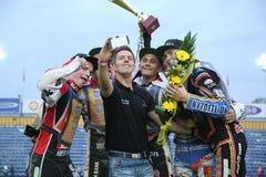Победитель гонки - команда Дании Стоковые Фотографии RF