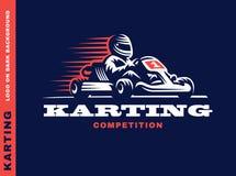 Победитель гонок Kart иллюстрация штока