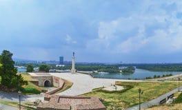 Победитель крепости Kalemegdan, Сербия стоковое изображение