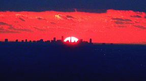 Победоносный заход солнца Стоковое Фото