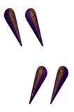 побитая скошенная латунь маркирует цитату peignot Стоковые Изображения RF