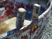 побитое старое skif wodden Стоковая Фотография RF