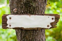 побитые старые древесины погоды знака Стоковая Фотография RF