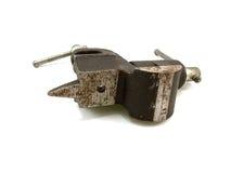 побитый черный старый стальной недостаток Стоковая Фотография RF