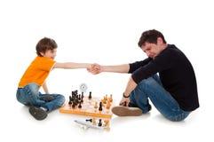 побитый шахмат Стоковое Изображение RF