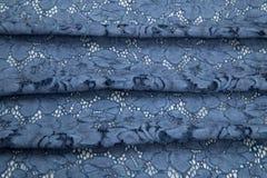 Побледнейте - голубой, голубой гипюр Стоковые Изображения