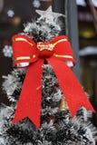 Поблескивая предпосылка рождественской елки стоковая фотография
