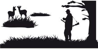 Побудительное звероловство животных и landscapes11 иллюстрация штока