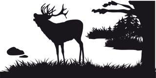 Побудительное звероловство животных и landscapes19 иллюстрация штока