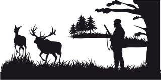 Побудительное звероловство животных и landscapes20 иллюстрация штока