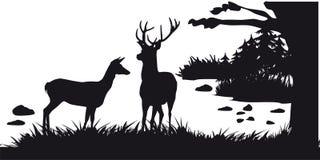Побудительное звероловство животных и landscapes23 иллюстрация вектора