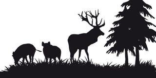 Побудительное звероловство животных и landscapes29 иллюстрация штока