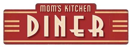 Повар украшения обедающего металлической пластинкы знака кухни мамы стоковое изображение