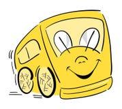 повезите счастливую школу на автобусе Стоковые Изображения