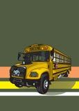 повезите школу на автобусе Стоковое фото RF