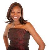 повелительница афроамериканца красивейшая представляя усмехаться Стоковое фото RF