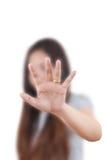 повелительница дела нажимая whiteboard Стоковые Фотографии RF