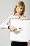 повелительница дела указывая к whiteboard Стоковые Фотографии RF