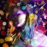 повелительница диско лоснистая стоковые фото