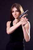 Повелительница и пушка Стоковая Фотография
