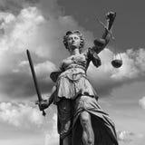 Повелительница Правосудие в Франкфурт Стоковые Изображения RF