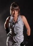 повелительница серого цвета платья Стоковое Изображение