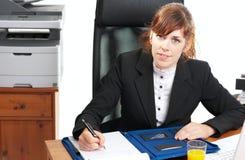 повелительница стола дела Стоковая Фотография