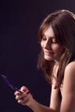Повелительница с мобильным телефоном Стоковые Изображения