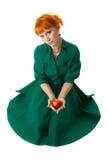 повелительница удерживания яблока красивейшая Стоковая Фотография RF