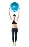 повелительница pilate удерживания шарика подходящая шикарная Стоковые Фотографии RF
