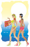 повелительницы пляжа Иллюстрация штока