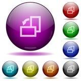 Поверните выведенные элементом стеклянные кнопки сферы Стоковое фото RF