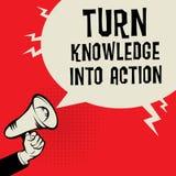 Поверните знание в концепцию дела действия Стоковое Изображение RF