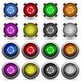 Поверните комплект левой кнопки Стоковое фото RF