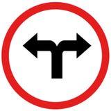 Поверните налево или поверните знак rightn Стоковое фото RF