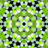 Поверните полигональную картину цветков в салатовом, черно-белый, изображение весны иллюстрация вектора