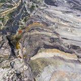 Поверхностная добыча угля в Польше Разрушенная земля над взглядом Стоковые Изображения RF