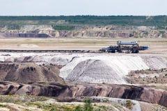 Поверхностная добыча угля Стоковые Фото