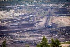 Поверхностная добыча угля Стоковые Изображения RF