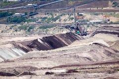 Поверхностная добыча угля Стоковое Изображение