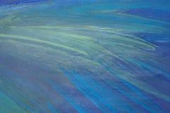 Поверхность абстрактной картины маслом деревянная на теме космоса Стоковое Изображение