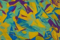 Поверхность абстрактной картины маслом деревянная ярких хаотических форм Стоковые Изображения RF