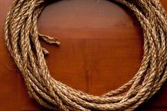 поверхность веревочки катушки деревянная Стоковое фото RF