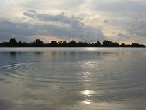 Поверхность воды озера Стоковая Фотография