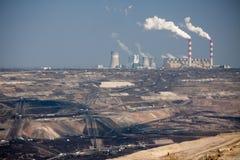 поверхность добычи угля Стоковое Изображение RF