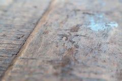 Поверхность доск поцарапанных таблицей старых деревянных стоковая фотография rf