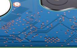 Поверхность жёсткого диска компьютера Селективный фокус Малая глубина fi Стоковые Изображения RF