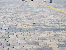 Поверхность каменной мостоваой красной площади в Москве стоковые фотографии rf
