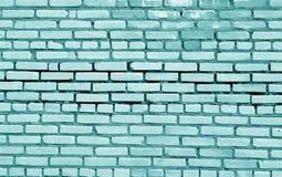 Поверхность кирпичной стены в cyan тоне стоковые изображения