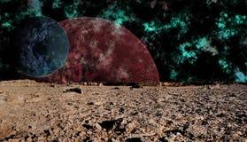 поверхность космоса луны взгляда futuri Стоковые Изображения RF